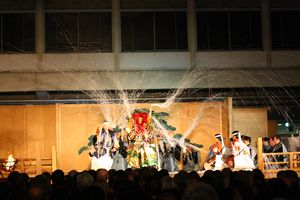 11月7日、三田キャンパスで行われた『土蜘蛛』