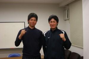活躍が期待される田村選手(左)と只野選手(右)