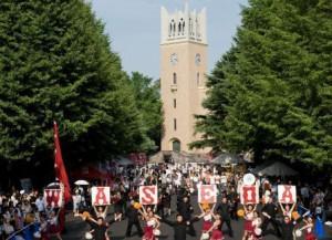 活気溢れる早稲田大学オープンキャンパス