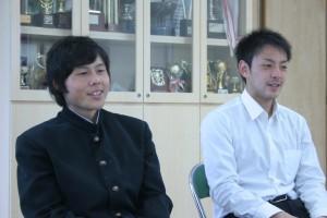 チームを支えた河井選手(左)と藤田選手(右)