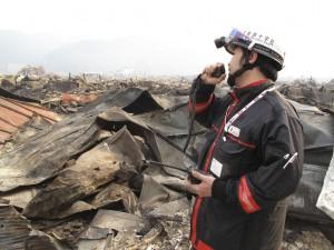 被災地では懸命な支援が続いている (写真はIFRC提供)