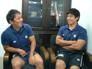 チームの要、中村選手(左)と仲宗根選手(右)