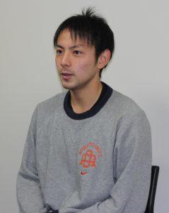 気持ちを新たに語る藤田選手