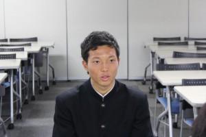 増田湧介選手(環2)MF 170センチ 昨季は1年生にしてレギュラー獲得