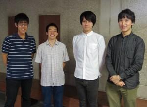 団体を運営している森江さん、渕井さんら4人
