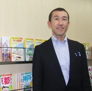 「地球の歩き方ガイドブック」編集本部長の奥氏