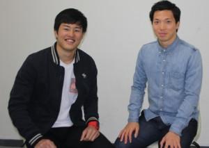 主将を務めた三津谷さん(左)と増田さん(右)