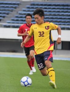 大学サッカーリーグ初得点のMF松木