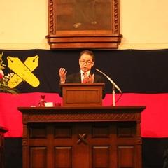 「長寿革命」の重要性を説く駒村教授