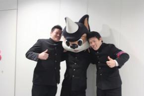 左から木村さん、ユニコン君、亀山さん