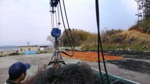 漁業支援の様子