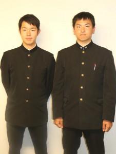 慶大・山木優佑さん(左)と早大・安藤之長さん(右)