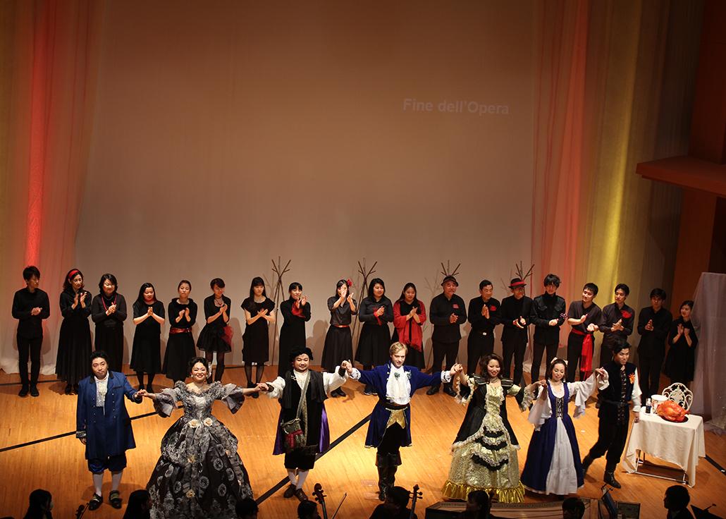 オペラプロジェクト公演 力強い歌声日吉に響く